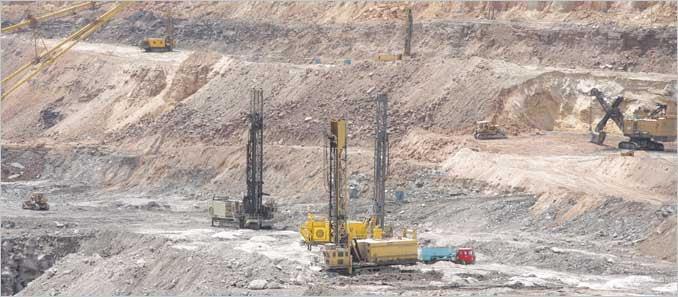 mining blast hole