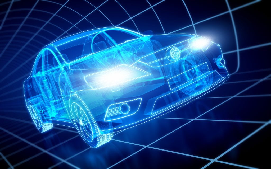 Car X-ray / Blueprint - with clipping path