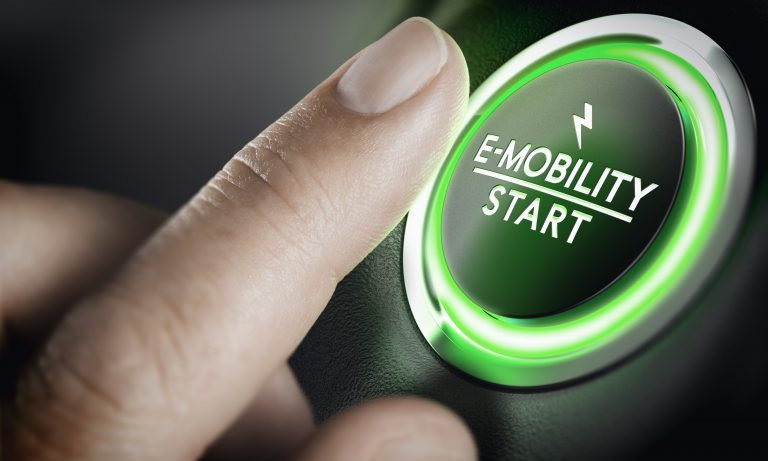E-Mobility, Green Car Start Button